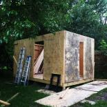 "Shed in progress by Eric in Austin, Texas: ""Moving and Groovin'!"""